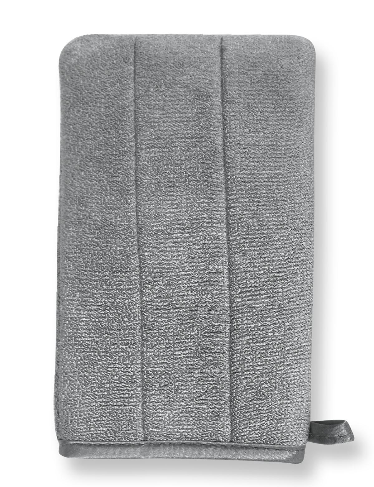 Nenette - Gant Microfibre double face gris