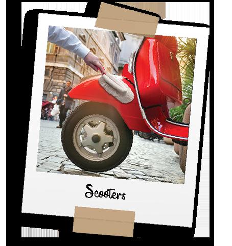 Diaporama - Nénette - l'utilisation - Scooters